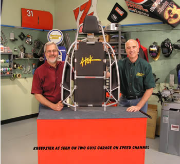 Two Guys Garage endorses the Kreepster on the Speed Channel